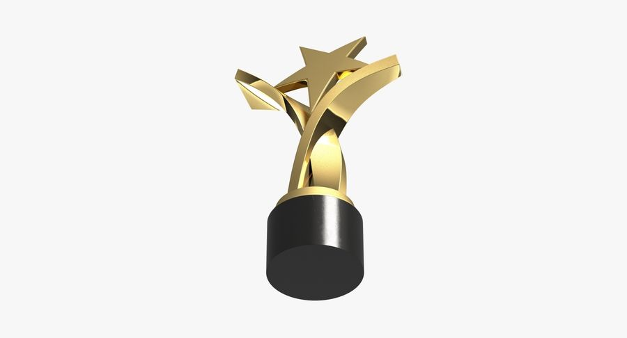 Award Trophy 2 royalty-free 3d model - Preview no. 7