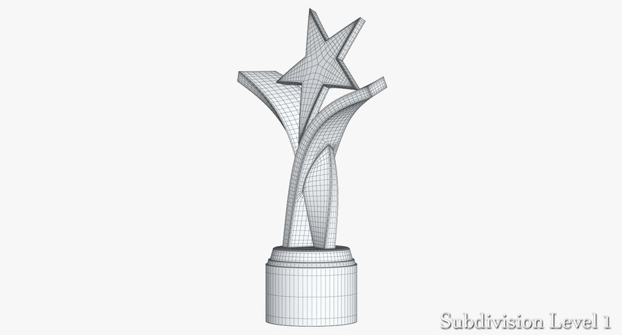 Award Trophy 2 royalty-free 3d model - Preview no. 12