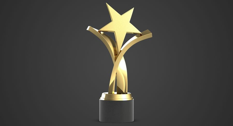 Award Trophy 2 royalty-free 3d model - Preview no. 3