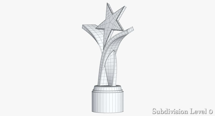 Award Trophy 2 royalty-free 3d model - Preview no. 11