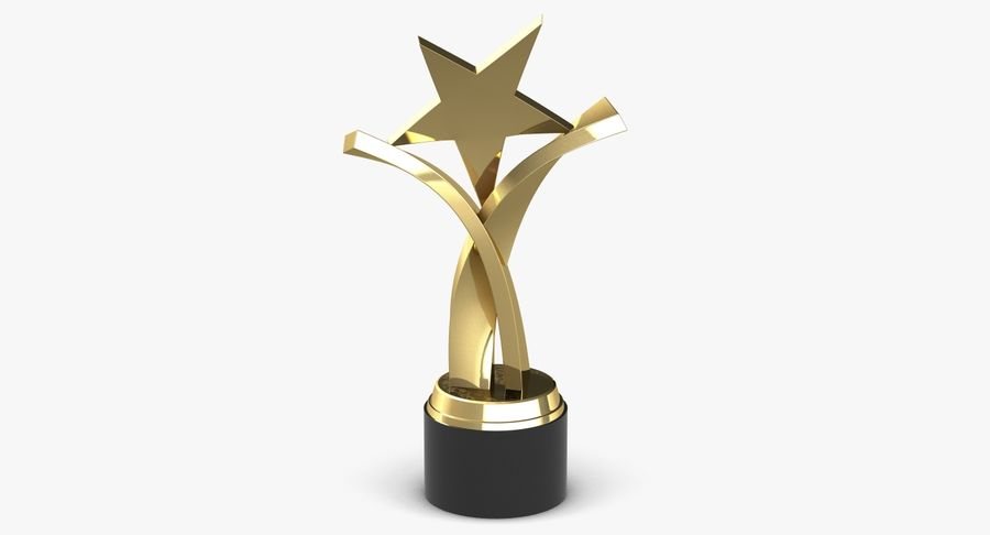 Award Trophy 2 royalty-free 3d model - Preview no. 6