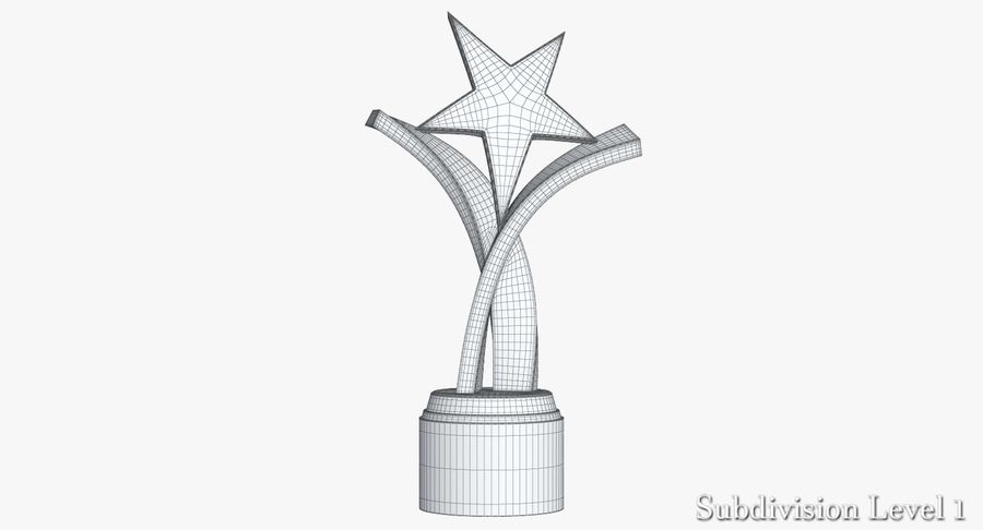 Award Trophy 2 royalty-free 3d model - Preview no. 10