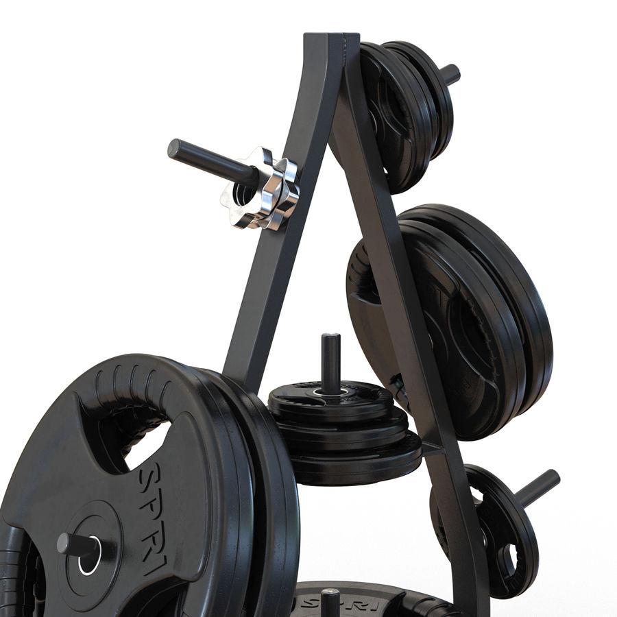 Weight Plate Tree 3D Models Set 2 3D Model $29 -  c4d  max