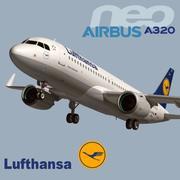 A320 Neo Lufthansa 3d model
