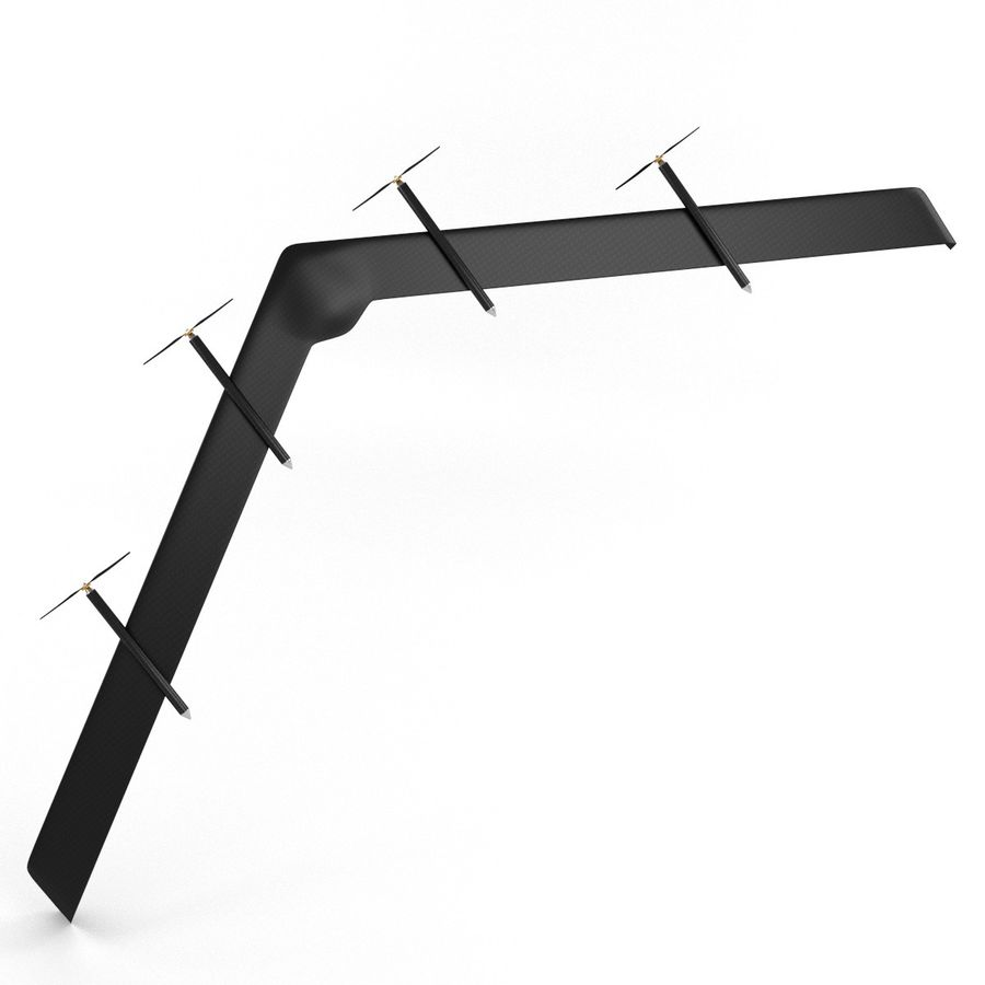 Solar Powered Drone royalty-free 3d model - Preview no. 8