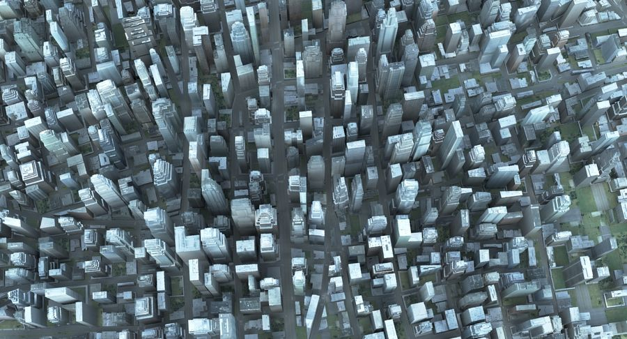 Büyük Şehir 47 royalty-free 3d model - Preview no. 3