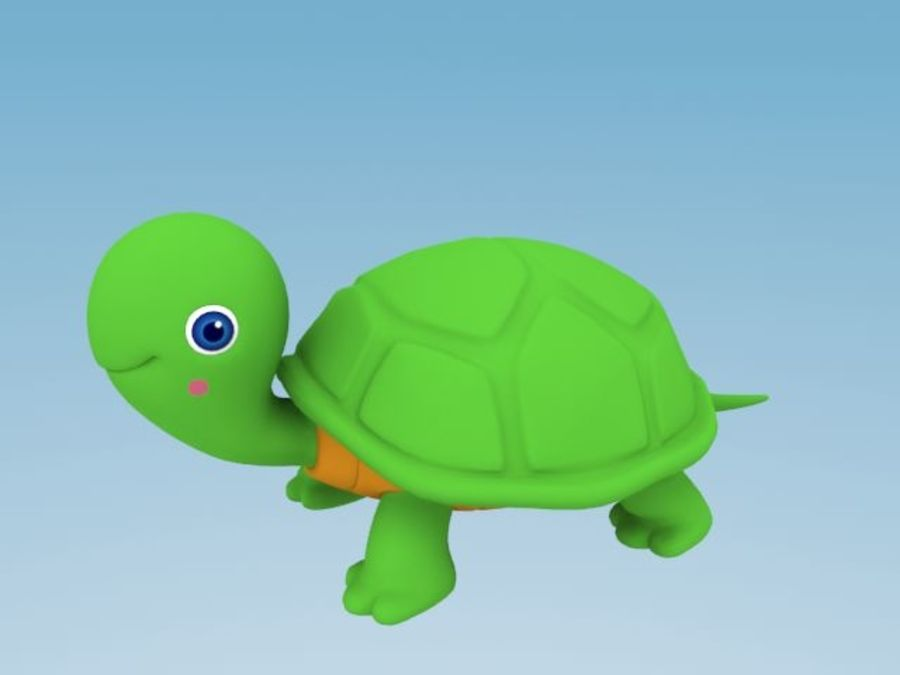 Cartoon turtle royalty-free 3d model - Preview no. 1