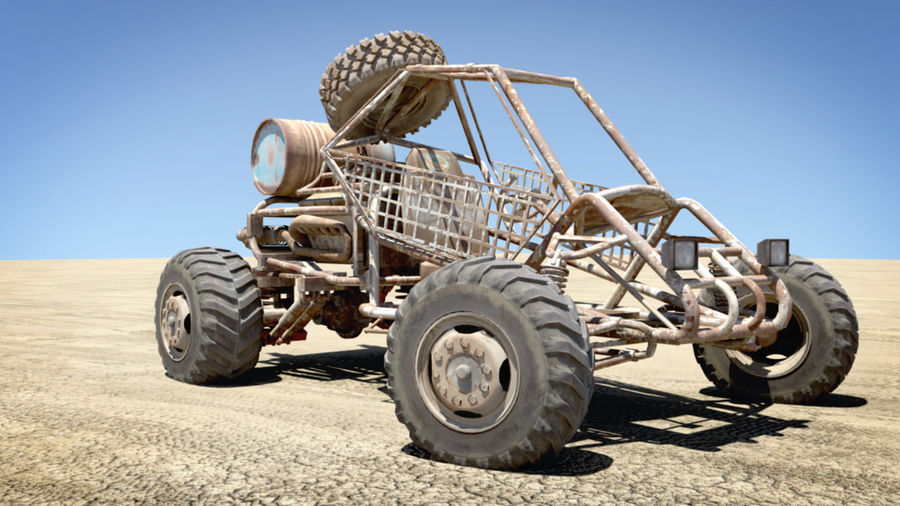 Desert BUGGY royalty-free 3d model - Preview no. 6