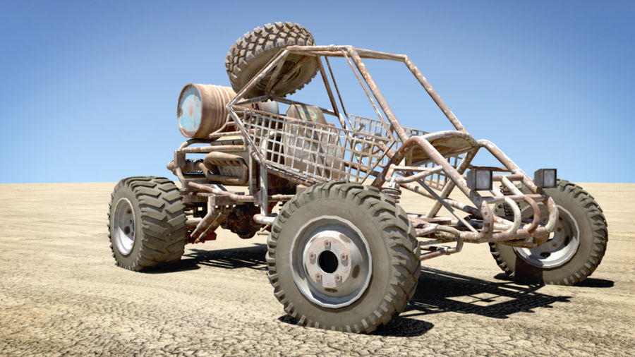 Desert BUGGY royalty-free 3d model - Preview no. 4