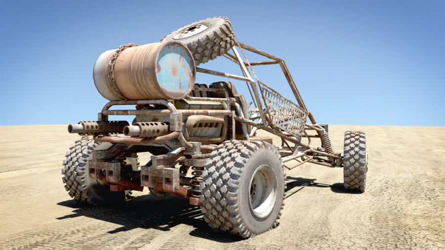 Desert BUGGY royalty-free 3d model - Preview no. 9
