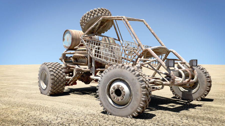 Desert BUGGY royalty-free 3d model - Preview no. 8