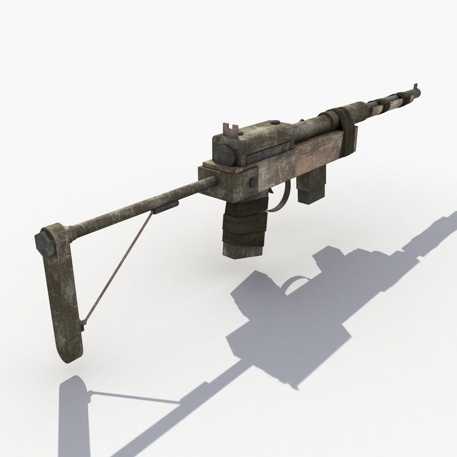 Post Apocalyptic Rifle royalty-free 3d model - Preview no. 4
