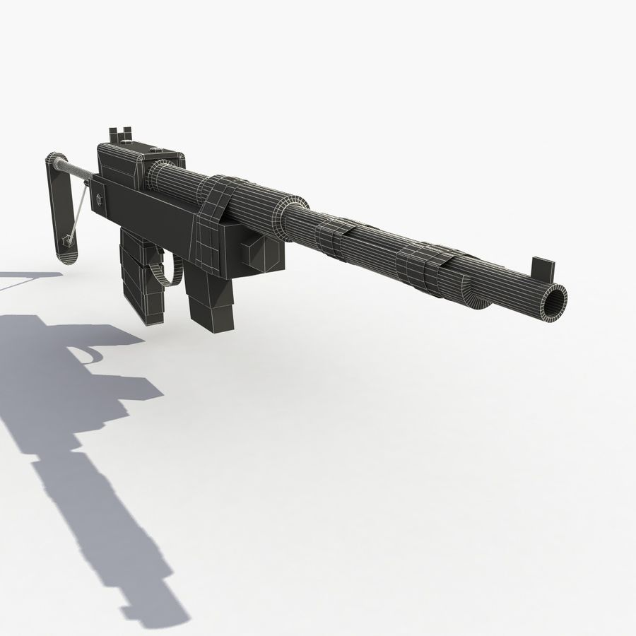 Post Apocalyptic Rifle royalty-free 3d model - Preview no. 9