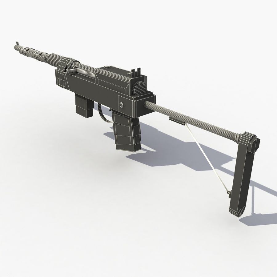 Post Apocalyptic Rifle royalty-free 3d model - Preview no. 8