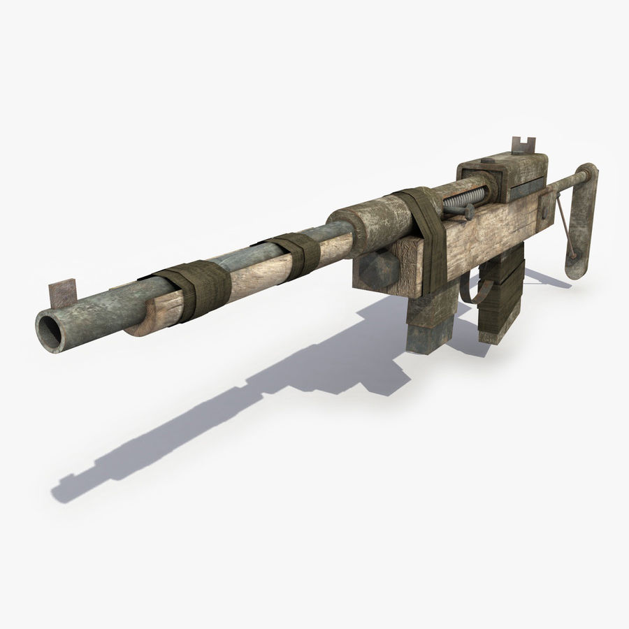 Post Apocalyptic Rifle royalty-free 3d model - Preview no. 1