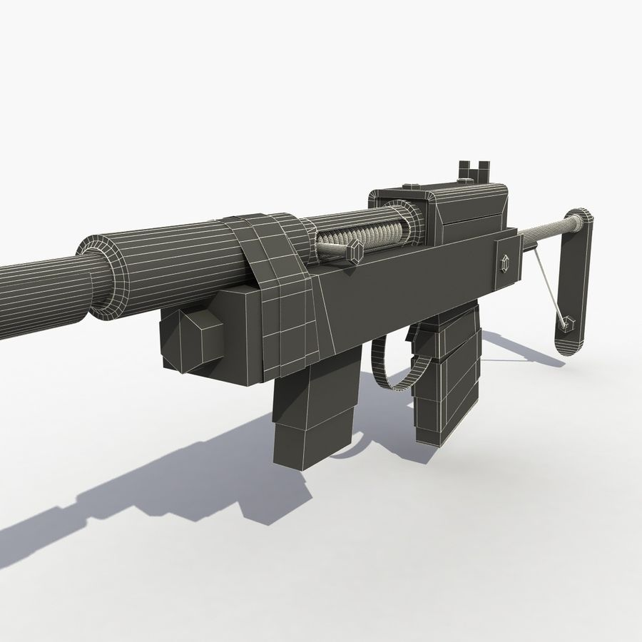 Post Apocalyptic Rifle royalty-free 3d model - Preview no. 10