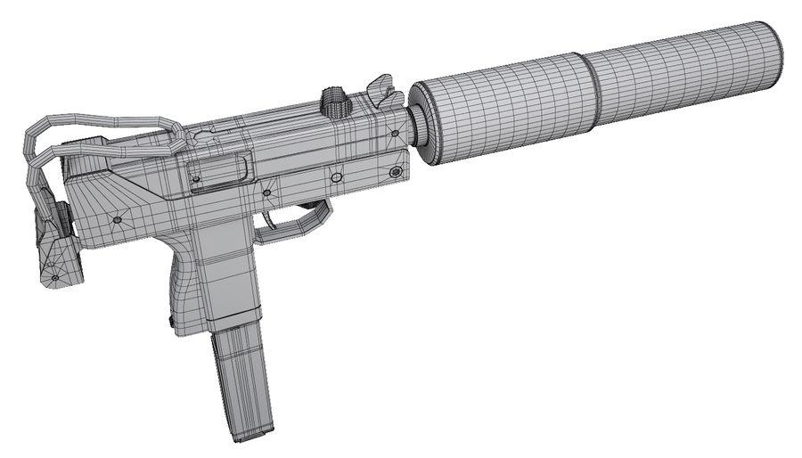 Submachine Gun Ingram MAC - 10 3D Model $49 -  unknown  max