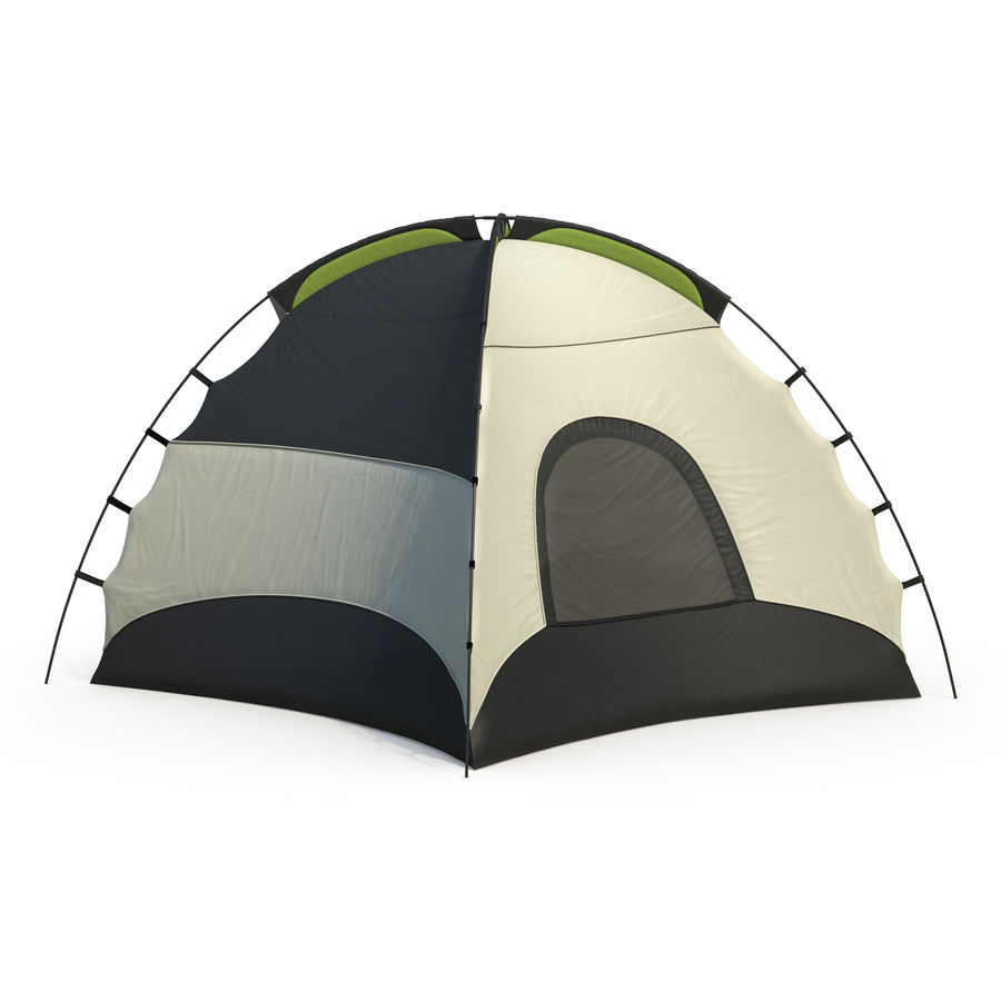 Camping Tent royalty-free 3d model - Preview no. 2