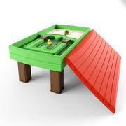naturalnie zabawny stół do ćwiczeń z piaskiem i wodą 3d model