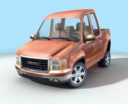 Cartoon Pickup Truck 3d model