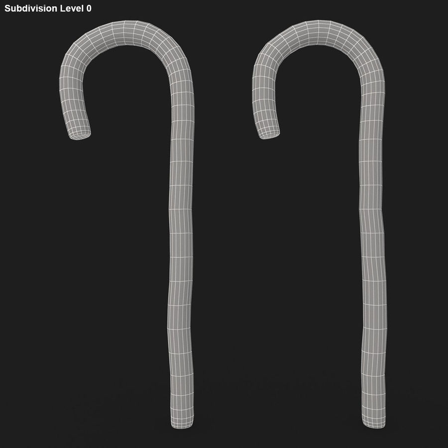 Candy Cane 03 (2 Colors) royalty-free 3d model - Preview no. 18