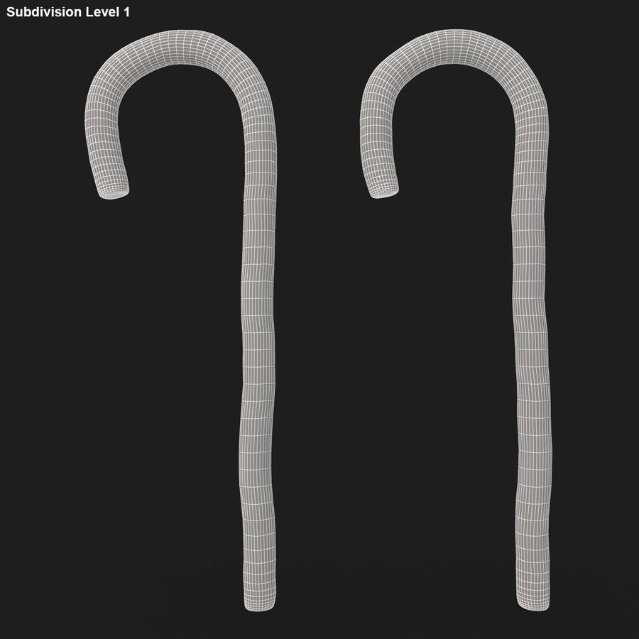 Candy Cane 03 (2 Colors) royalty-free 3d model - Preview no. 19