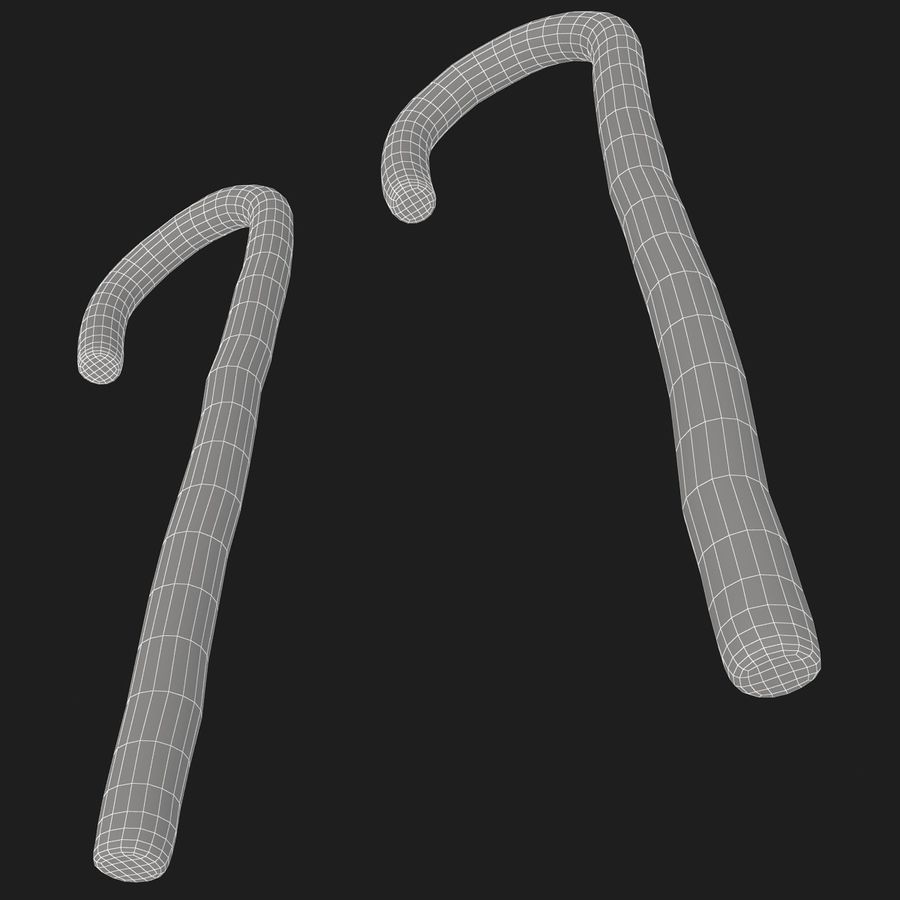 Candy Cane 03 (2 Colors) royalty-free 3d model - Preview no. 13