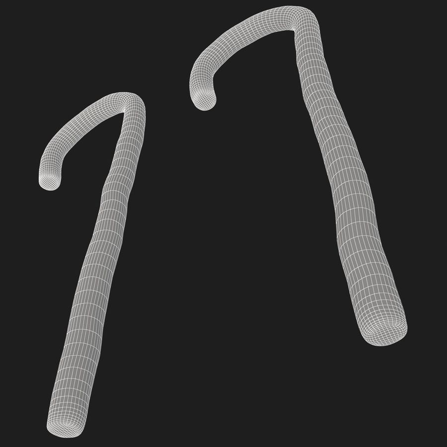Candy Cane 03 (2 Colors) royalty-free 3d model - Preview no. 14