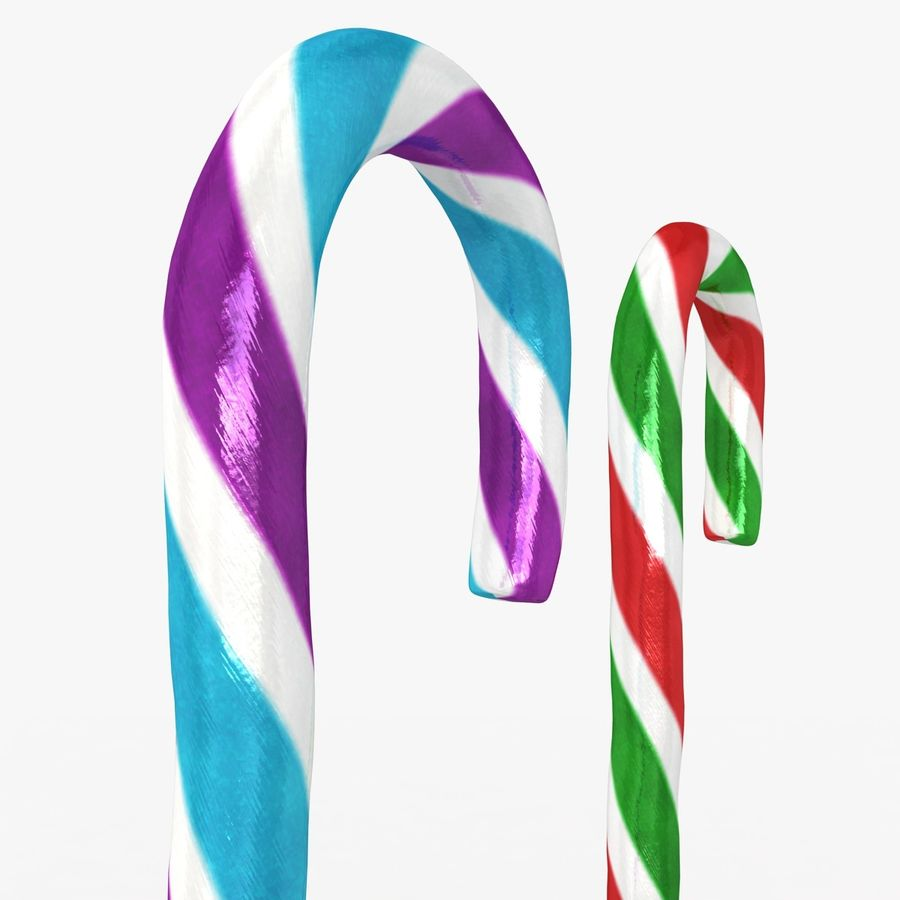 Candy Cane 03 (2 Colors) royalty-free 3d model - Preview no. 6