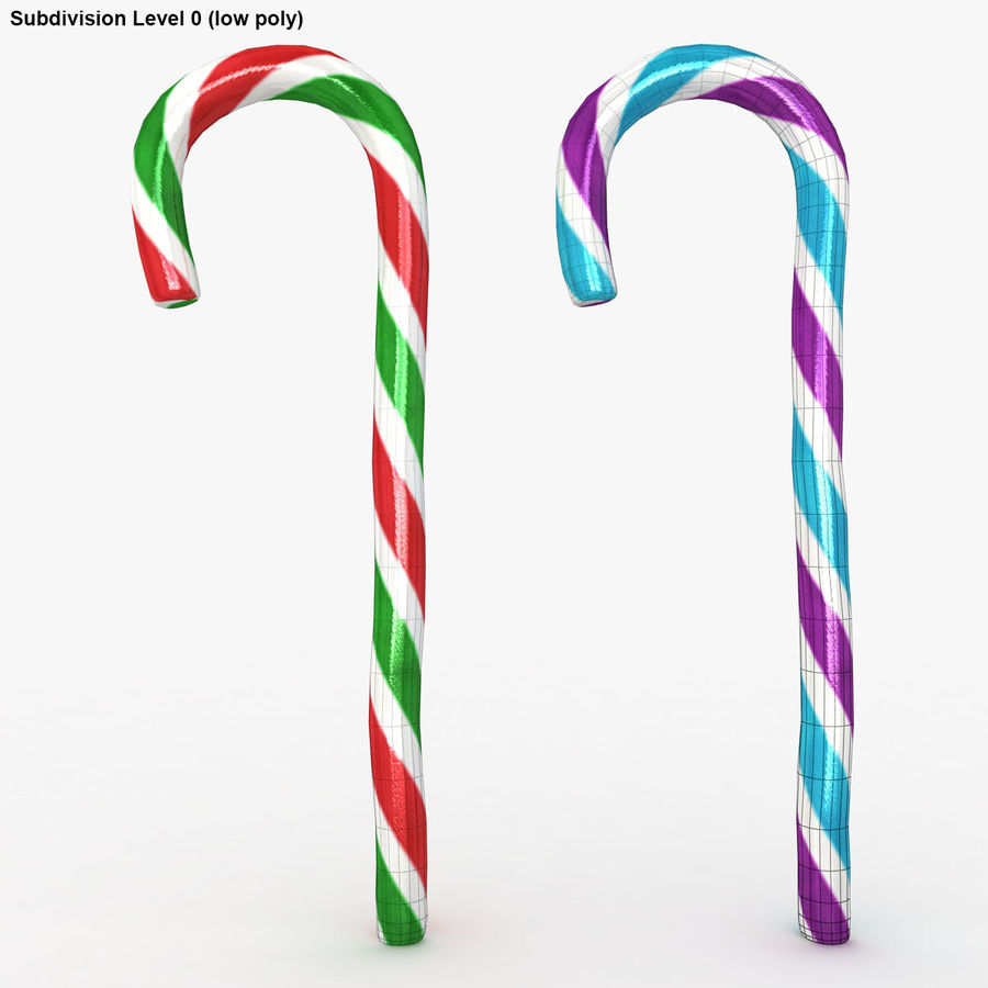 Candy Cane 03 (2 Colors) royalty-free 3d model - Preview no. 17