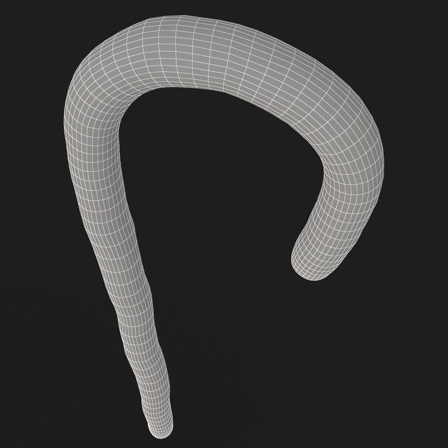 Candy Cane 03 (2 Colors) royalty-free 3d model - Preview no. 16