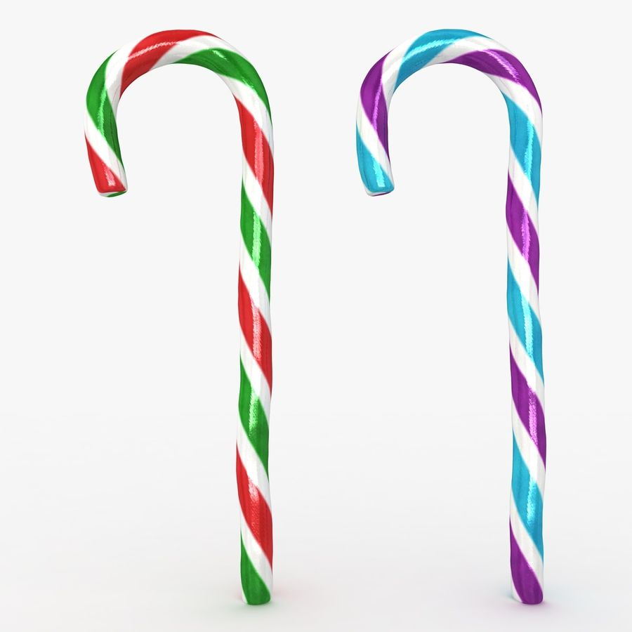 Candy Cane 03 (2 Colors) royalty-free 3d model - Preview no. 3