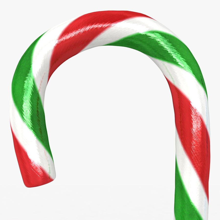 Candy Cane 03 (2 Colors) royalty-free 3d model - Preview no. 4