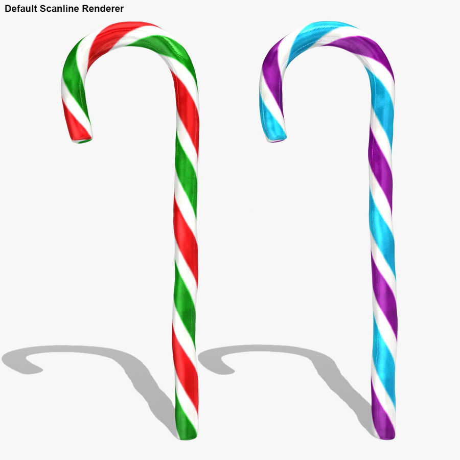 Candy Cane 03 (2 Colors) royalty-free 3d model - Preview no. 22