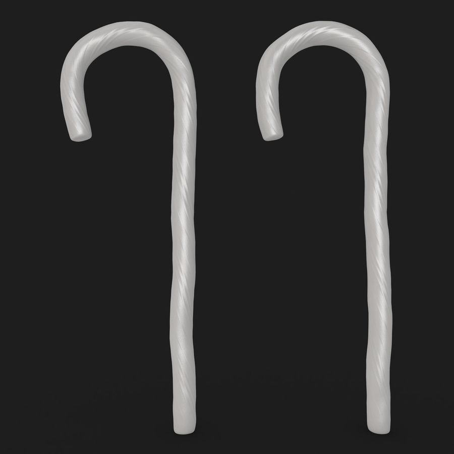 Candy Cane 03 (2 Colors) royalty-free 3d model - Preview no. 21