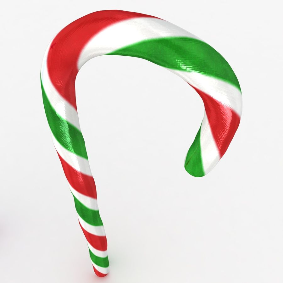 Candy Cane 03 (2 Colors) royalty-free 3d model - Preview no. 8