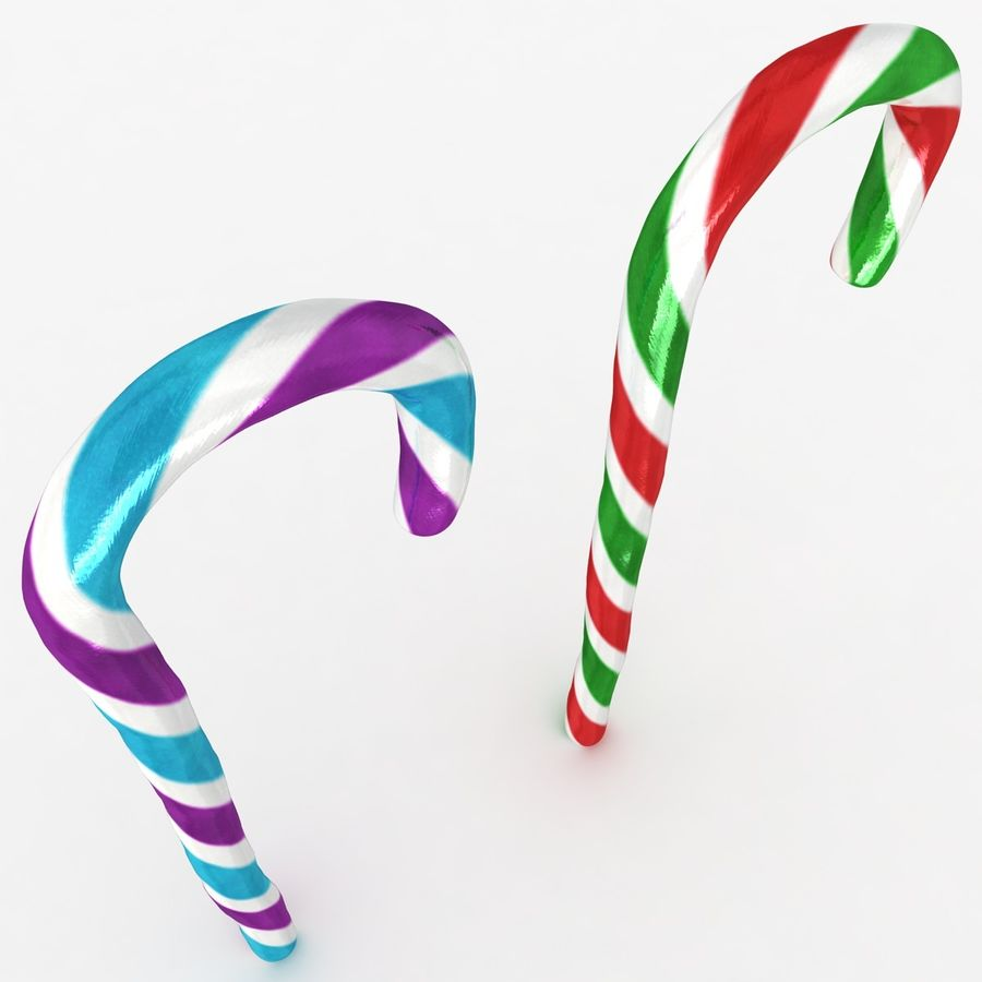 Candy Cane 03 (2 Colors) royalty-free 3d model - Preview no. 11