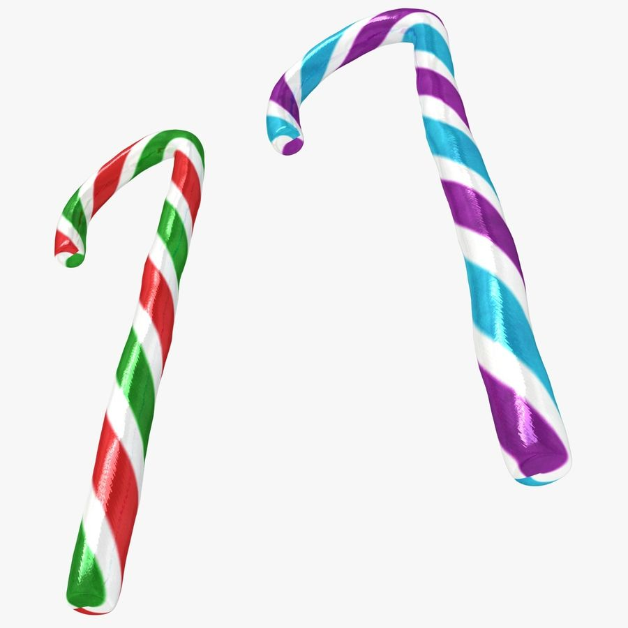 Candy Cane 03 (2 Colors) royalty-free 3d model - Preview no. 12