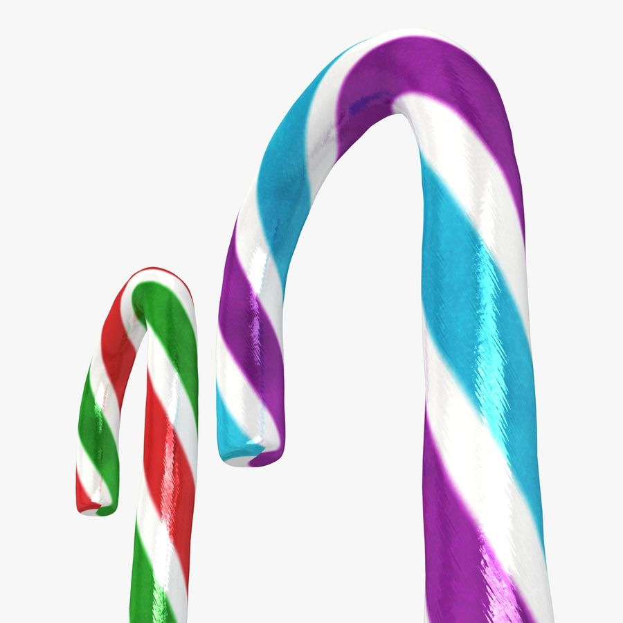 Candy Cane 03 (2 Colors) royalty-free 3d model - Preview no. 10