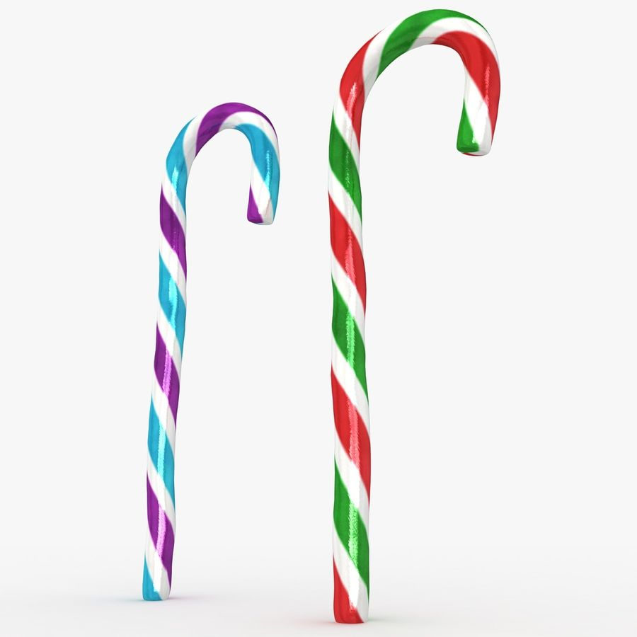 Candy Cane 03 (2 Colors) royalty-free 3d model - Preview no. 9
