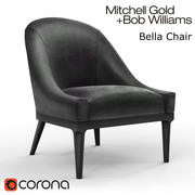 Chaise Bella - Mitchell Gold - Bob Williams 3d model