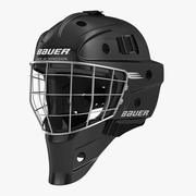 Hockey Goalie Mask Bauer Black 3d model