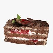 Torta al cioccolato 3d model