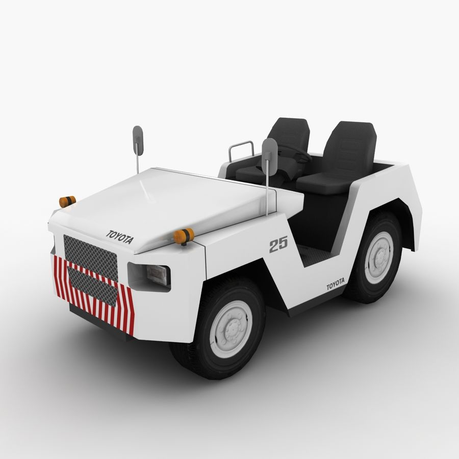 Tractor de equipaje Toyota TD-25 royalty-free modelo 3d - Preview no. 2