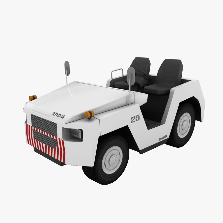 Tractor de equipaje Toyota TD-25 royalty-free modelo 3d - Preview no. 1