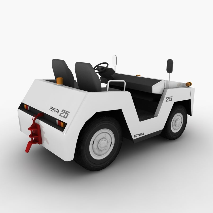 Tractor de equipaje Toyota TD-25 royalty-free modelo 3d - Preview no. 4
