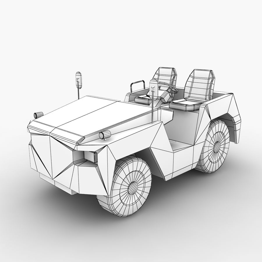 Tractor de equipaje Toyota TD-25 royalty-free modelo 3d - Preview no. 9