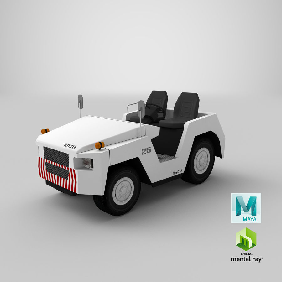 Tractor de equipaje Toyota TD-25 royalty-free modelo 3d - Preview no. 17