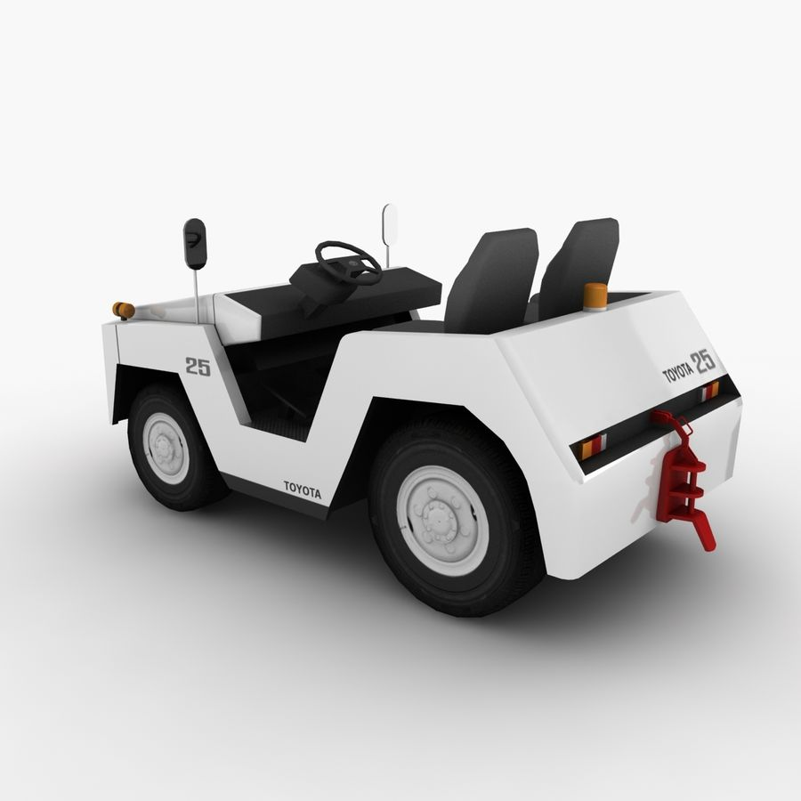 Tractor de equipaje Toyota TD-25 royalty-free modelo 3d - Preview no. 5