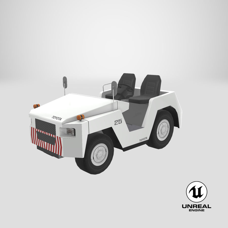 Tractor de equipaje Toyota TD-25 royalty-free modelo 3d - Preview no. 20